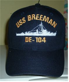 USS BREEMAN DE-104 w  SILHOUETTE. HATS OFF · US MILITARY CUSTOM ... da16e0cf0483