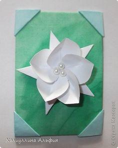 ATC card Origami Origami circles, modular origami: My ATS-ki.  Paper, cardboard, glue, paint, fabric.  Photo 9
