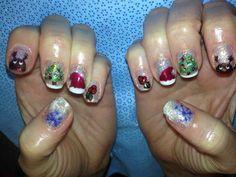 Day 355: Christmas Glitter Nail Art www.nailsmag.com