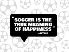 A modern funny Football template with a white background made of soccer balls and a black text box to underline the white text. A Funny, Hilarious, Football Template, Happiness Meaning, Funny Football, Balls, Meant To Be, Funny Quotes, Soccer