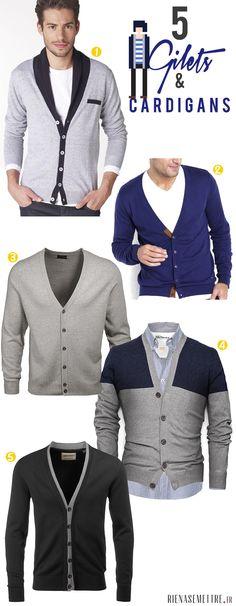 SELECTION | 5 Gilets et Cardigans pour nous les Hommes ! | homme  | Blog Mode | Rien à se Mettre  www.rienasemettre.fr