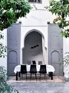 gray Moroccan doors