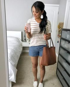 """This tee is good for summer and for fall! 💛💛💛 SIZING: I'm 5'6"""" and normally 6/8 or S/M   Wearing this tee in S.   Shop this outfit by going to my blog, finding this pic on the righthand sidebar, and clicking it. @liketoknow.it http://liketk.it/2sgnF #liketkit"""