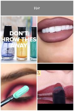 5 Ways To Use The Last Bit Of Everything lipstick Videos Makeup Candles, 5 Ways, Nail Polish, Lipstick, Videos, Beauty, Lipsticks, Nail Polishes