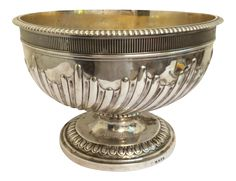 Antique English Sterling Silver Punch Bowl on Chairish.com