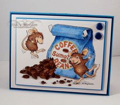 Caffeine High, house mouse http://www.stampendous.com/products-page/house-mouse/house-mouse-caffeine-high-rubber-stamp-hmp06/