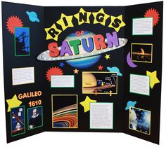 Make a Science Fair Project | Poster Ideas - The Rings of Saturn | Solar System Science Project for Kids