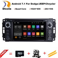 FOR JEEP PATRIOT LIBERTY Android 7.11 Car DVD player Quad Core 2G RAM 1080P 4G WIFI Radio RDS gps car multimedia auto stereo #Affiliate