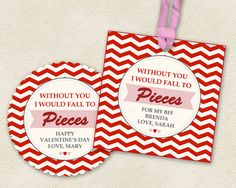 Reese's Pieces Tags to tie to bags, jars or boxes of candy.  Use to make labels this Valentine's Day.  This is a perfect party favor or gift for friends, colleagues, neighbors, classmates . . . or that someone special.  Last three lines of printable PDF are editable.