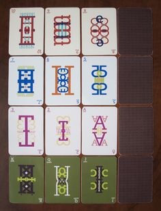 Typographic Playing Cards on SCAD Portfolios