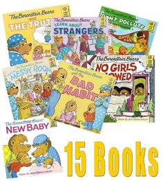 The Ultimate Berenstain Bears Collection: Learn About Strangers;bad Dream; Berenstain Bears and the Truth; Don't Pollute Anymore; Hug & Make Up; Messy Room; the Truth; Think of Those in Need; Lose a Friend; Golden Rule by Stan Berenstain et al., http://www.amazon.com/dp/1494453630/ref=cm_sw_r_pi_dp_htzjvb0P8X1VG