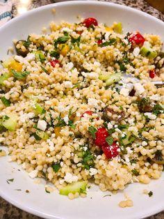 Side Salad Recipes, Pasta Recipes, Beef Recipes, Real Food Recipes, Soup Recipes, Vegetarian Recipes, Pearl Couscous Recipes, Pearl Couscous Salad, Healthy Breakfast Recipes