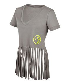 Take a look at this Gravel Vibrant V-Neck Top by Zumba® on #zulily today!