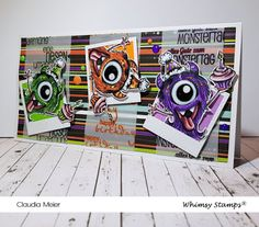 Claudia's Karteria: RiesenUmarmungsHappyBirthdayMonstertag | GiantHugH... Prismacolor, Claudia S, Happy Birthday, Whimsy Stamps, Halloween, I Card, Blog, Cute, Cuddle