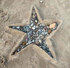 I know this is sand, but you could do this with stepping stones for the garden.  <3