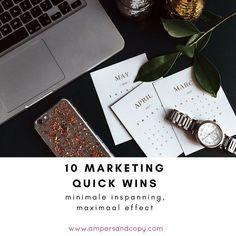 """Mag het eens wat minder zijn? 't Zal wel zijn! Het is sowieso wat kalmer in deze dagen tussen Kerst en Nieuw.  Maak je je toch graag nuttig tijdens een stil moment hier en daar probeer dan één van mijn 10 """"vluggertjes"""" voor maximale impact met minimale inspanning. #contentmarketing #marketingcoach #contentcoach #coaching #bloggen #blog #blogging #groepscoaching #tips #marketingtips http://bit.ly/2BBgKp7"""