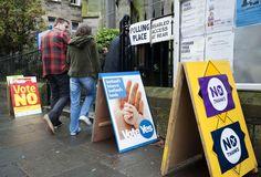 Si el referendum depende de los carteles electorales, el Sí a la independencia gana de calle.