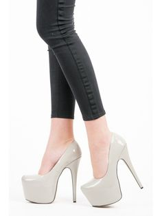 Lakované lodičky na platforme XK-0007LT.G Stiletto Heels, Platform, Shoes, Fashion, Moda, Zapatos, Shoes Outlet, Fashion Styles, Shoe