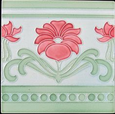 German Jugendstil Tile