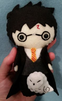 Harry Potter Pocket Plush Doll by WordsToSewBy on Etsy