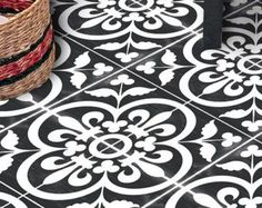 Vinyl Floor Tile Sticker Floor decals Carreaux by QUADROSTYLE