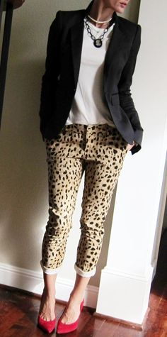 Something for everyone here: Dramatic and Rmantic Shoes, Classic Blazer and Leopard! Lively and Natural.