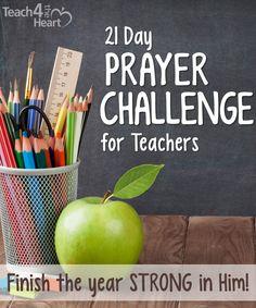 prayer challenge for christian teachers