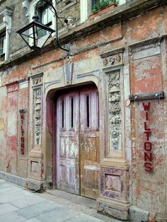 Money love / London / Creative London / Make more of what's already on my doorstep / Creative project inspiration / Wilton's Music Hall, E1