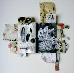 """Pages from """"Asemic Diary"""" 2012 by Donna Maria de Creeft http://www.dmdecreeft.com/ #artists_book #mixed_media #art"""