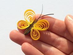 Butterflies Yellow Sunny Lemon Pineapple Table Confetti Dinner Ornaments Baby Bridal Shower Party Decor Gift Scatter Party Paper Quilling Art These are unique handmade quilled butterflies. Perfect for any joyful occasion! Can be used as dinner table confetti decorations for baby shower, bridal shower or wedding. Also makes wonderful gift fillers for office presents and scrapbooking embellishments as well! This listing is for 10 pieces. For more quantities, please, contact me. Dimensions of…