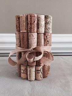 Cork-covered Glass Vase by LiteraryCork on Etsy