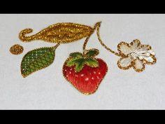 КЛУБНИКА   \  STRAWBERRY (embroidery details)