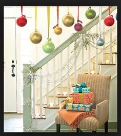 Hanging ornaments frm the celling