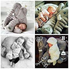 Baby Children Long Nose Elephant Doll Pillow Soft Plush Stuff Toys Lumbar Pillow in Baby, Toys & Activities, Soft Toys Elephant Plush Pillow, Baby Elephant, Newborn Pictures, Baby Pictures, Baby Boys, Teddy Toys, Baby Shower Decorations For Boys, Baby Pillows, Baby Kind