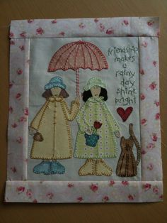 First Block in the Gift of Friendship Quilt by Natalie Bird