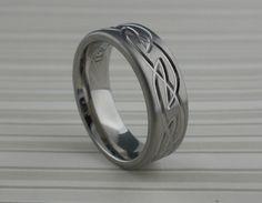 Celtic Titanium Wedding Ring  