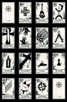 tarot cards - modern tarot typography - interesting images