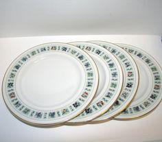 Royal Doulton Tapestry Dessert Plate, Royal Doulton Tapestry, Royal Doulton Bone China, English China, Dessert Plate, FOUR DESSERT PLATES