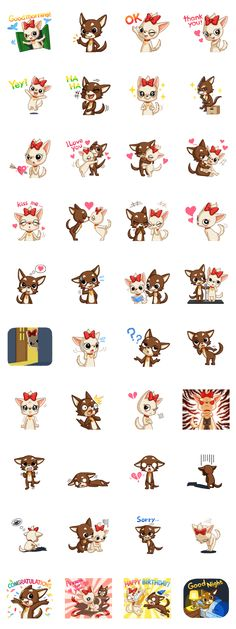 Lovely chihuahua couple sticker. Recommended for couple.