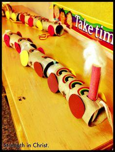 """Strength in Christ"" Train Craft for Preschoolers"