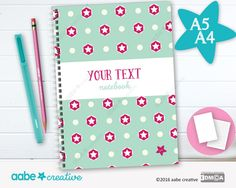 Personalised Notebook (Sally Star), handmade stationery - lots of designs to choose by aabecreative on Etsy