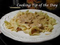 Cooking Tip of the Day: Recipe: Crockpot Beef Stroganoff