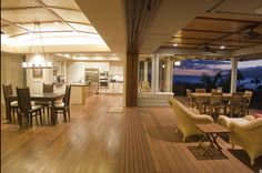 Kitche, Dining Room and Patio.  What an open concept.
