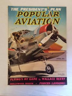 1939 APRIL POPULAR AVIATION MAGAZINE BACK ISSUE ORIGINAL GOOD SHAPE