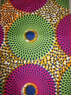 Multicolor Circles Wax print African fabric per fat quarter/ African decor print/ African apparel/ African accessories Ankara Fabric, African Fabric, African Print Clothing, African Prints, African Clothes, African Design, African Art, African Accessories, African Children