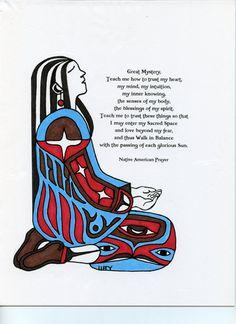 Prayer Girl by NativeWorldPrints on Etsy