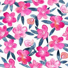 Smudgy Magenta Blooms by micklyn