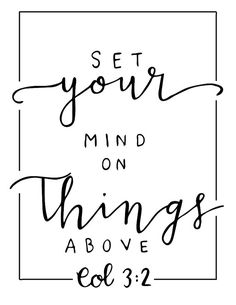 Set your mind on things above by LoveAndLaurel on Etsy