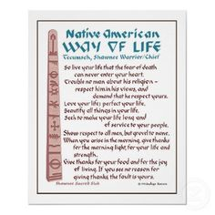 First Nation's Way of Life.The Words of the Wise Man Tecumseh. American Indian Quotes, Native American Quotes, Native American History, American Indians, Native American Cherokee, Native American Religion, Cherokee Rose, Native American Warrior, Native American Beauty