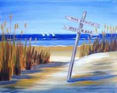 Path to the Beach...a new paint n' sip painting!